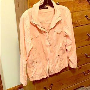Coral jacket! 😊❤️